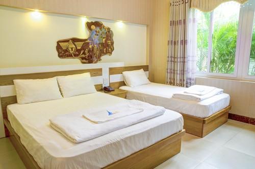 Phòng nghỉ thoáng đãng, rộng rãi